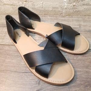 Torrid Peep Toe d'Orsay Black Flats